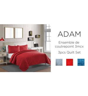 ADAM Quilt Set 3/B- CHAMBRAY-86 x 86-QUILT SET
