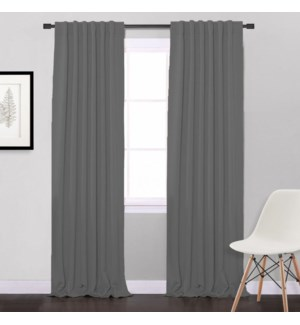 HIDDEN RIDEAU OPAQUE EN ASPECT LIN GRIS PALE 52X84