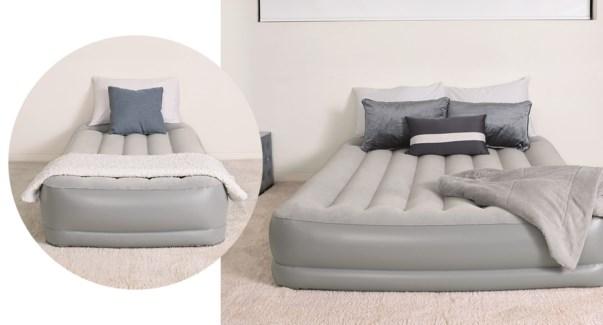 """Tritech Air Bed w/ BI AC pump  Twin 75x38x15"""" 2/b"""