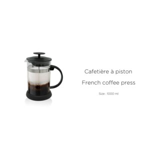 CAFETIERE A PISTON 1000 ML 12/B