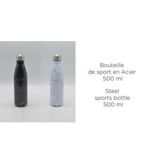BOUTEILLE DE SPORT ACIER 500ML COLORIS MARBRE
