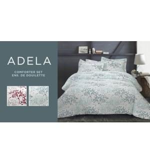 Adela 3PC Ens de Douillette Microfiber Imprime Asst Grand 4B