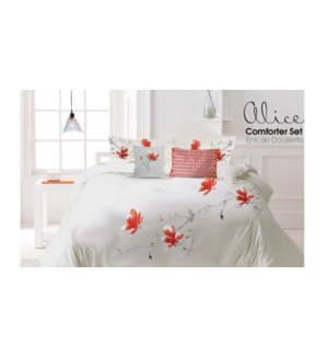 Alice Ensemble Douillette 6mcx Brode Rose/Pale Grand 3/B