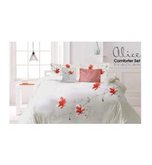 Alice Ensemble Douillette 6mcx Brode Rose/Pale T.Grand 2/B