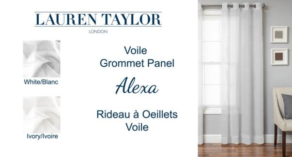 ALEXA RIDEAU VOILE · OEILLETS BLANC 54x63 12B