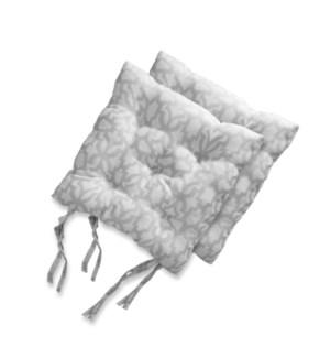 ALENA ENSEMBLE DE 2 COUSSIN A CHAISES GRIS 17X17 8B