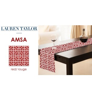 Amsa Table Runner 13x72 Red 24