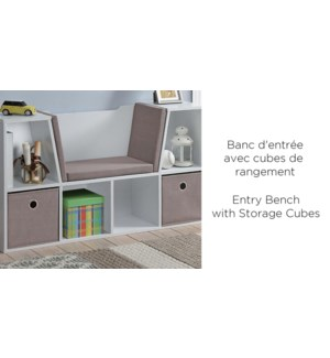 ENTRY BENCH WITH STORAGE CUBES