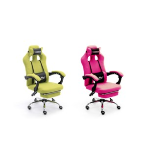 PU GAMING Massage Office Chair-Rose-w/USB connector