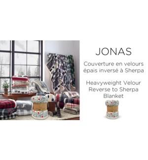 JONAS heavyweight velour reverse to sherpa blanket 60x70 12B
