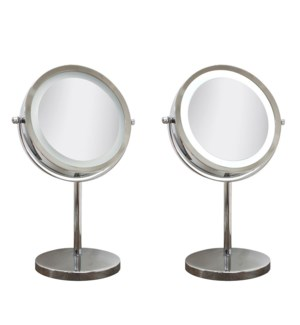 Chrome plated LED Vanity Mirror 6/b