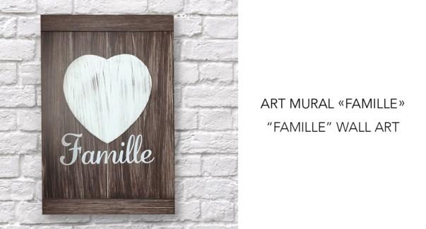 Famille Wall Art  23x34- 8B