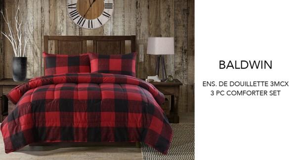 Baldwin buffalo plaid 3 pc comforter set FULL 2/B