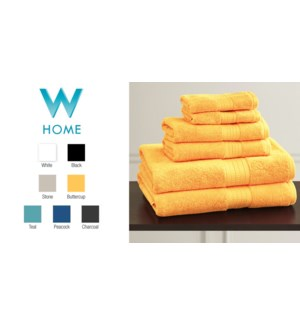 BAMBOO-BUTTERCUP-13 x 13-TOWELS
