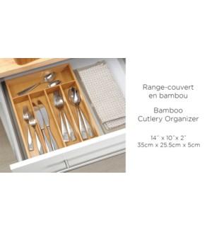 RANGE COUVERTS EN BAMBOU 35X25.5X5CM 10/B