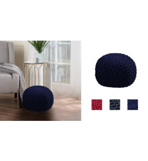 POUF TRESS 50X35CM PACK B ROUGE 2/B