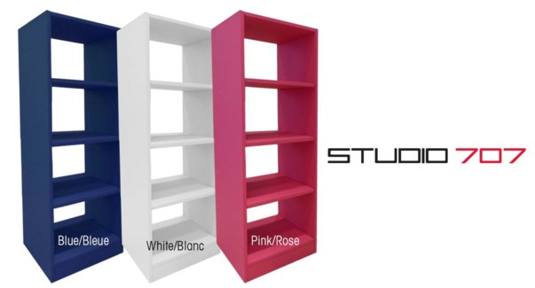 4 Tier Bookshelf Pink 1b