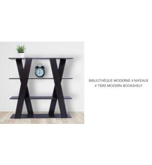 BibliothŠque Modern … 4 'tagŠres Espresso 120x24x115 cm