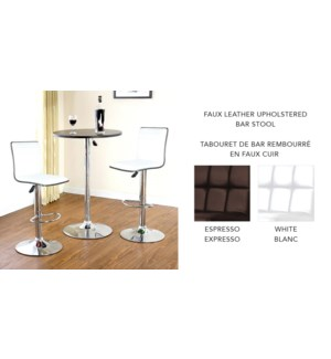 PU UPHOLSTERED WHITE  BAR STOOLS