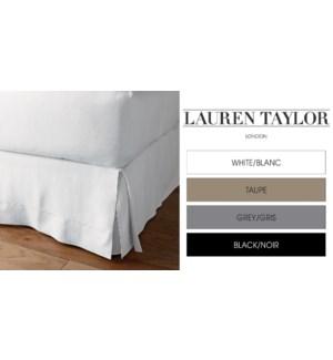Bedskirt White Full