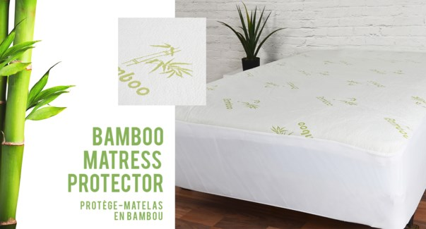 "PROTEGE-MATELAS SIMPLE IMPERMEABLE EN BAMBOO 17"" 6B"