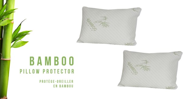 BAMBOU PAIRE STD PROTÔGE-OREILLER IMPERMABLE