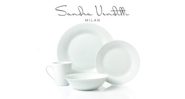 SIMPLY WHITE ENS. SERVICE DE TABLE EN PORCELAINE 16PC