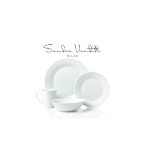 SIMPLY WHITE ENS. SERVICE DE TABLE EN PORCELAINE 16PC