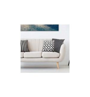 CHANEL faux linen cushions 18x18 asst. 12/b