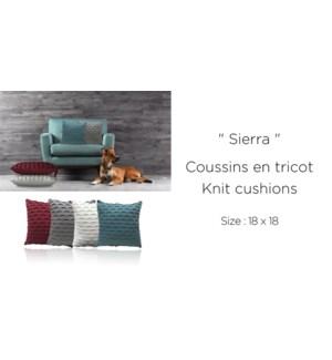 SIERRA knit cushion 18x18 asst. 8/b