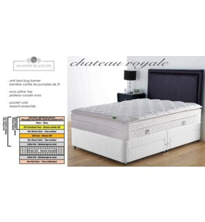Chateau Royale Whi Mattress 137x203x35cm FXL
