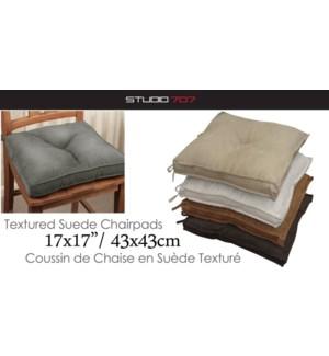 COUSSIN DE CHAISE TEXTURE EN ASPECT SUEDE17x17 ASST 16B