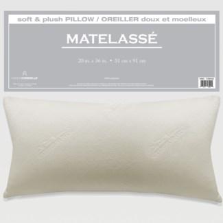 C-MATELASSE OREILLER DE MOUSSE MMOIRE BLANC TRES GRAND