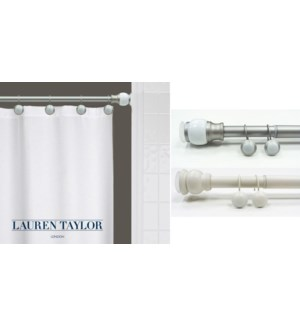 Coral Shower Rod Set White 42x72 6bx