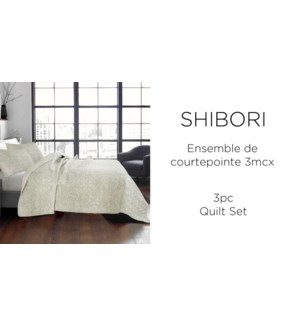 SHIBORI  2 pc-Lin-68X86-QUILT SET