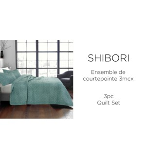 SHIBORI  3 pc-Vert-102X90-QUILT SET