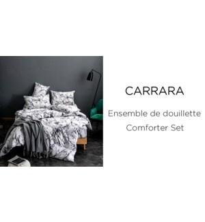 CARRARA  3 pc-Noir/Blanc-T -Ens.Douiellette