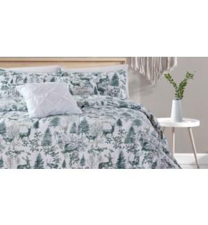 BANFF 8pc comforter set Q GREY 2/B