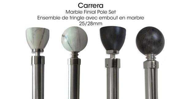 CARRERA ENSEMBLE DE TRINGLE MARBRE BLANC RONDE 48X86