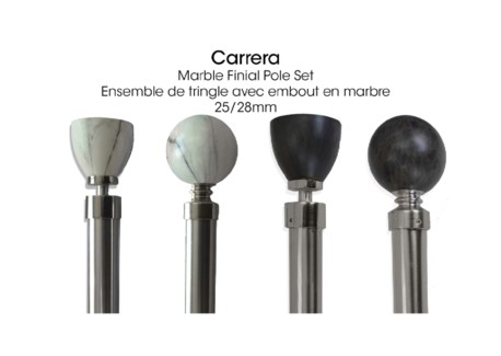 CARRERA ENSEMBLE DE TRINGLE MARBRE NOIR RONDE 48X86