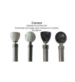 CARRERA ENSEMBLE DE TRINGLE MARBRE HAUT PLAT BLANC 66X120