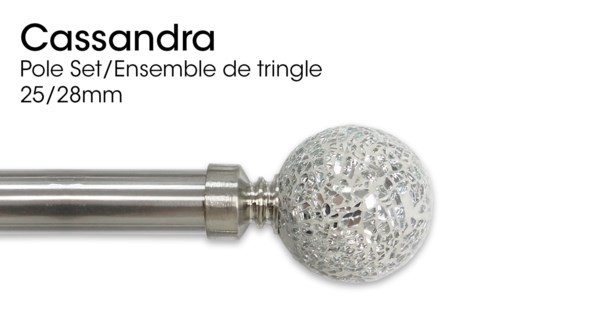 CASSANDRA ENSEMBLE DE TRINGLE NICKEL BROSSE 25/28 48X86