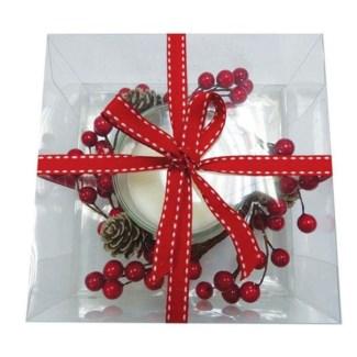 Cndls Gls Cranberry Whi/red 8b