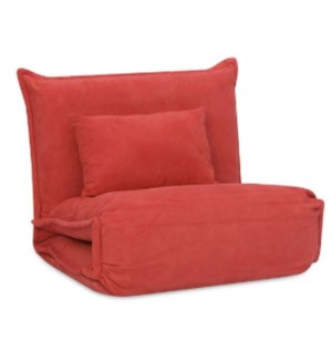 Chair Bed With One Pillow RED 198X85X12.5CM 2/B