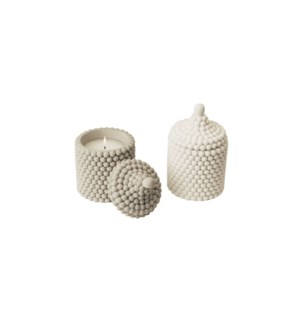 Cement Casted Jar Candle 10X16CM 1050g filling asst. 12/b