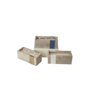 CEMENT CANDLE 6x6x16CM asst. 12/b