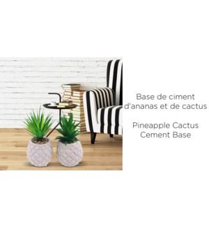Base de ciment d'ananas cactus 11x11x19-12B