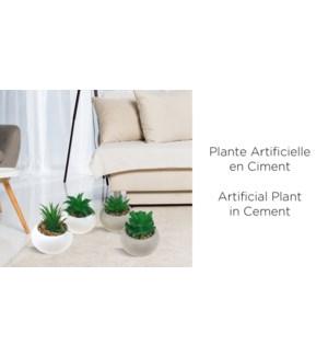 Plante Artificielle en Ciment 8x8x12 - 24B