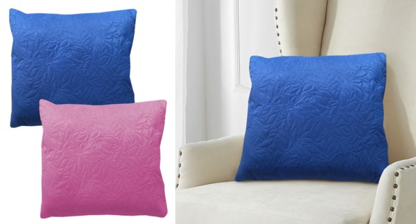 Lotus quilted cushion ASST.20X20 12/B