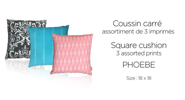 Phoebe cotton printed cushions 18X18 12/B